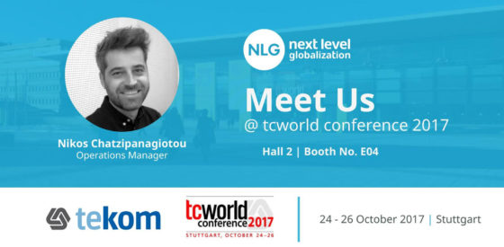 Meet us at tekom tcworld 2017