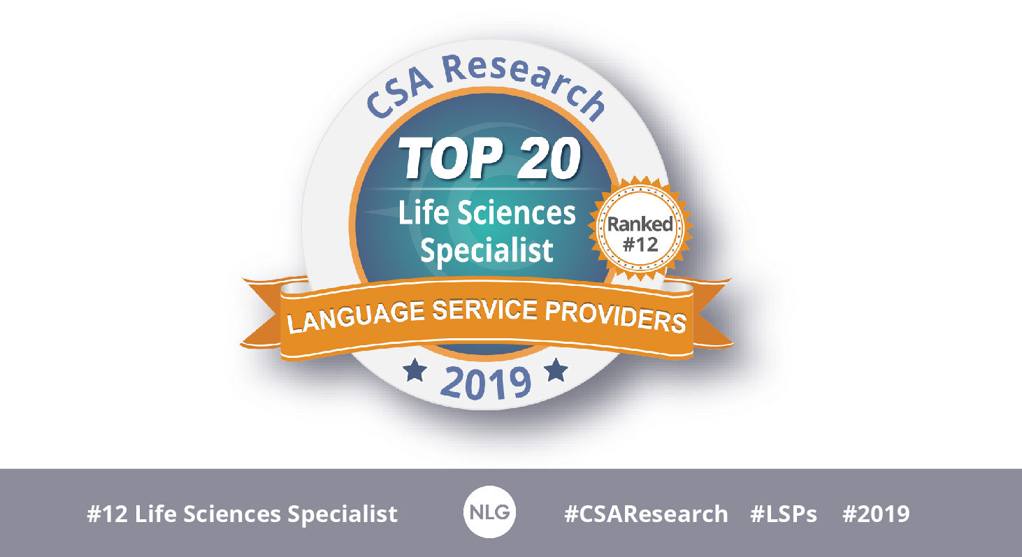 NLG among top LSPs specialized in Life Sciences